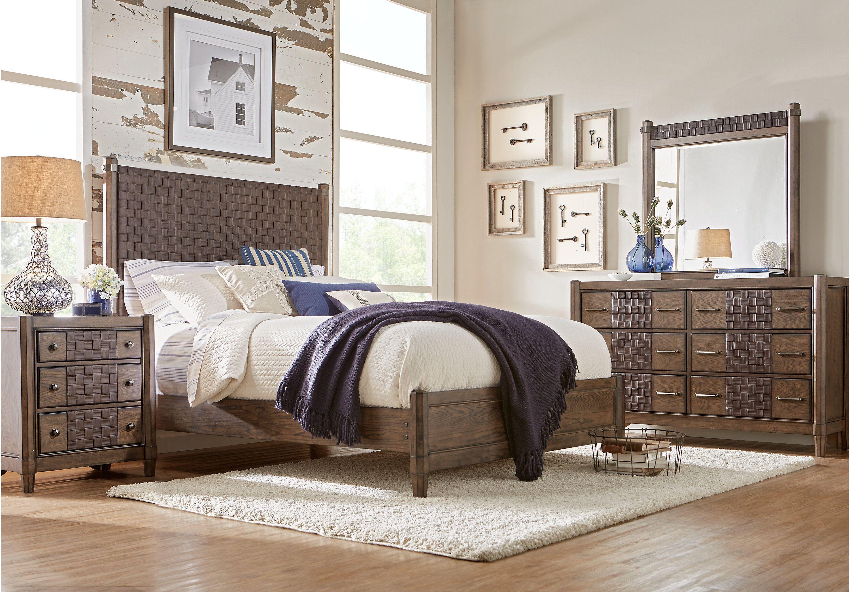 picture of Sofia Vergara Savona Cherry 5 Pc Queen Panel Bedroom