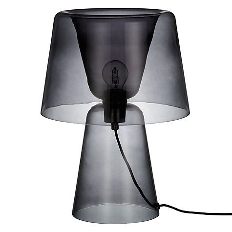 design project by john lewis no 001 large glass table lamp smoke