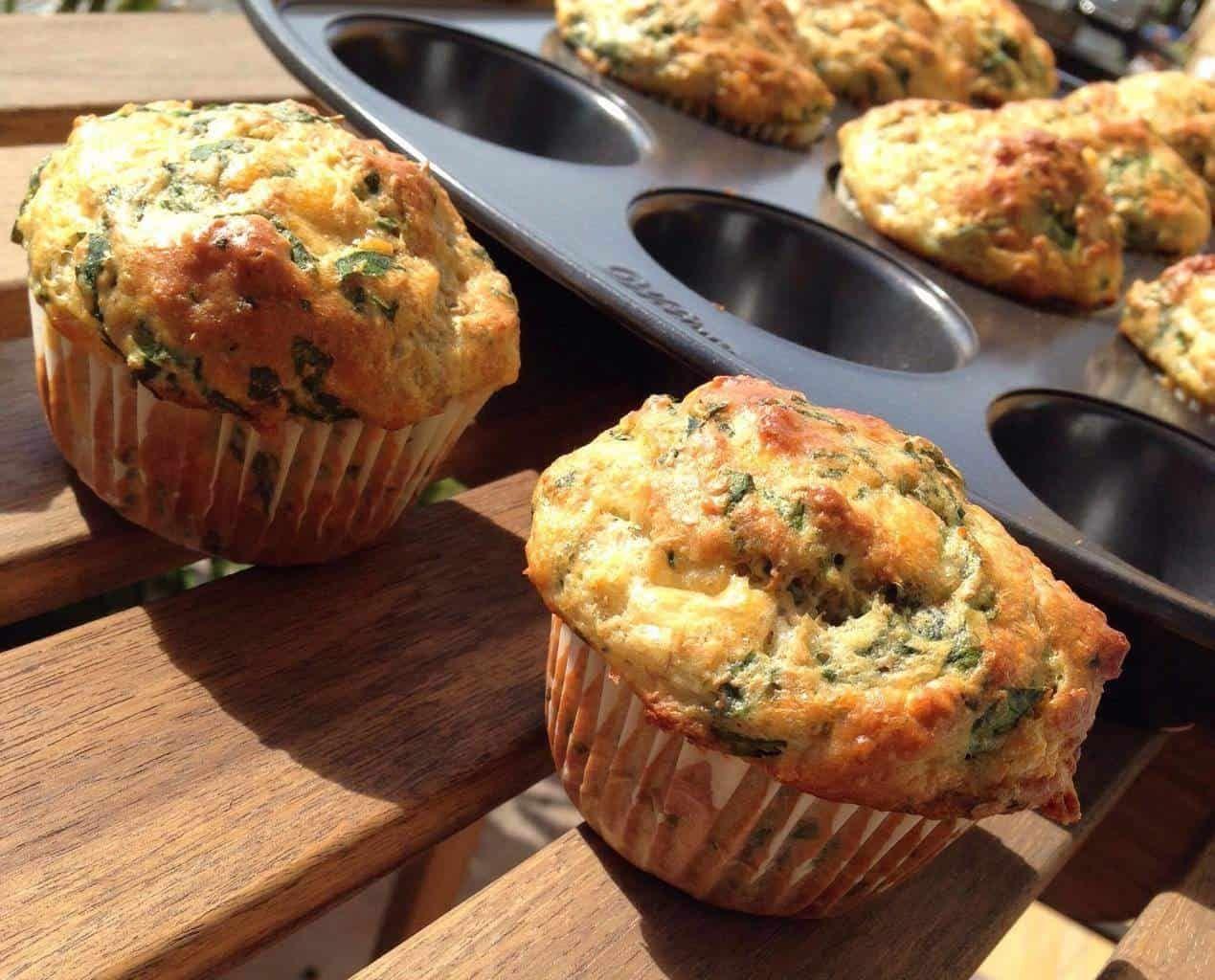 Muffins cheddar et épinards | Recette (avec images) | Muffins, Epinard, Cheddar