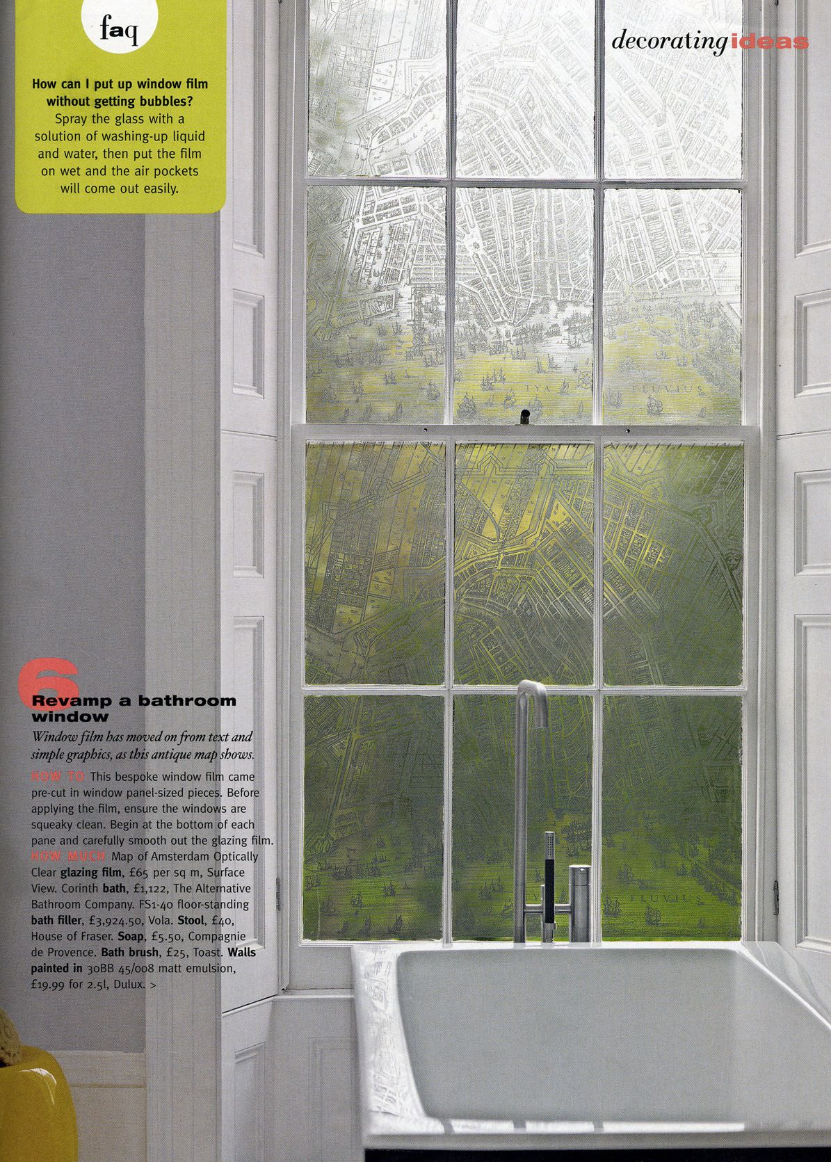 Old window ideas for outside  surface view window films as featured in living etc magazine a