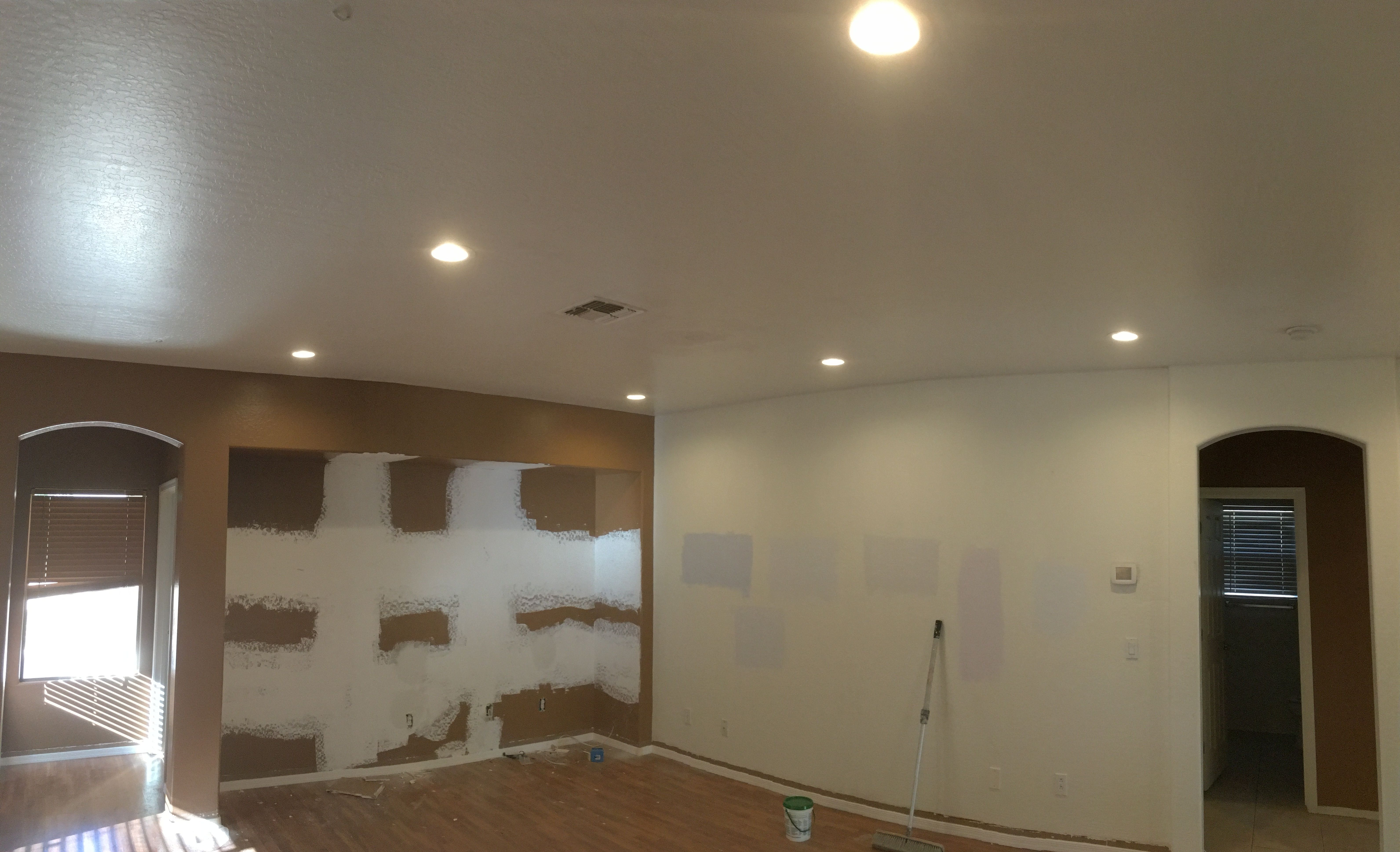 Installed 6 6 Inch Led S And Dimmer In The Living Room Of
