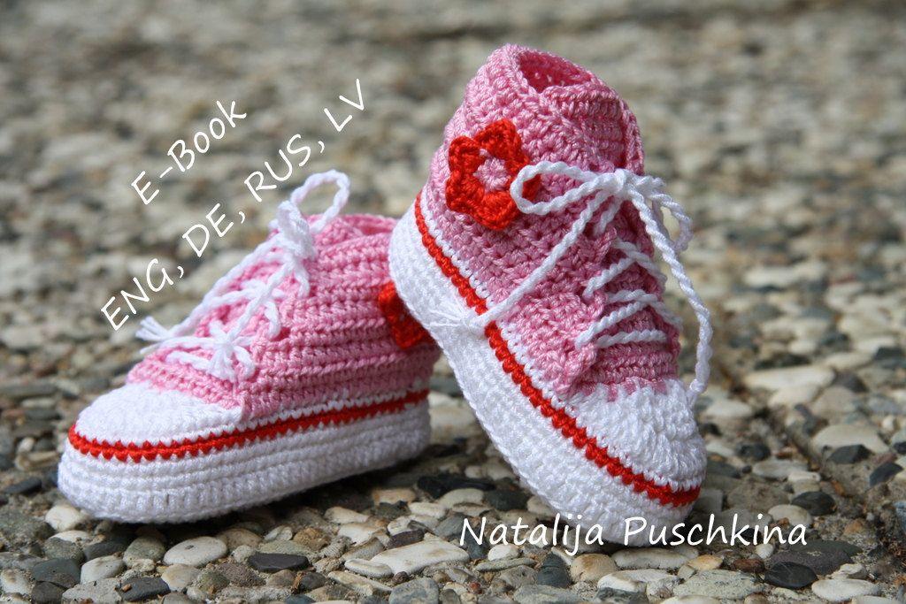 Häkelanleitung für Dummies für Baby Converse by HandMadeByNatalija ...