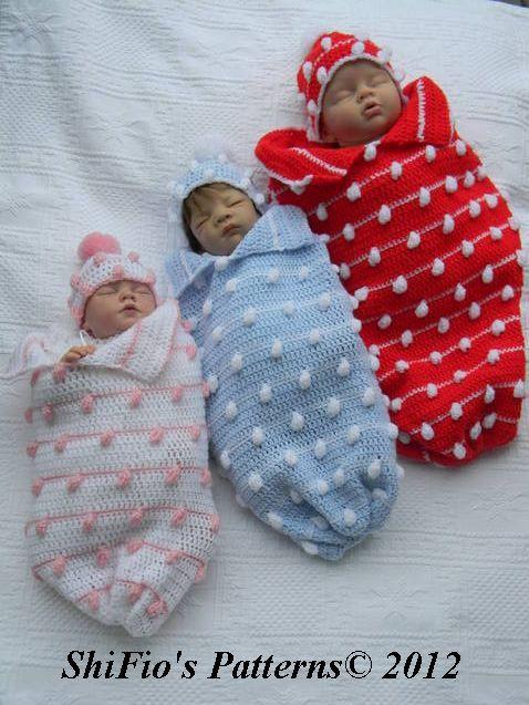 Baby Crochet Pattern Cocoon, Papoose, Hat Crochet Pattern DIGITAL ...