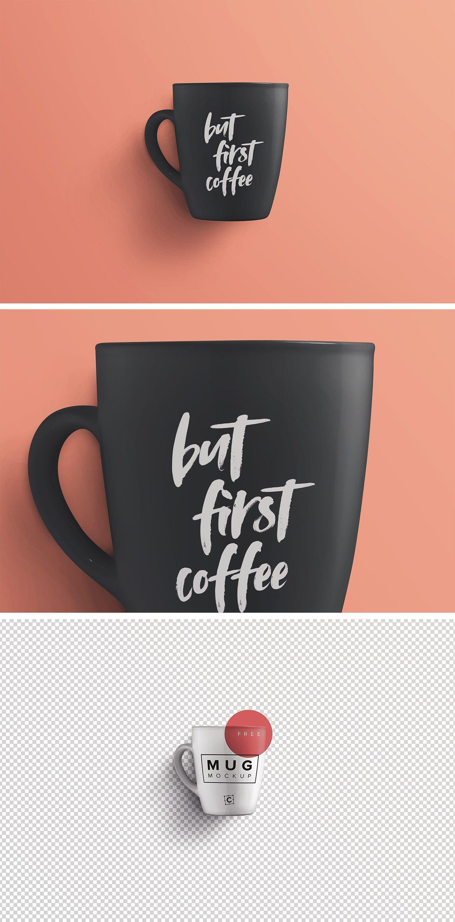 Black Coffee or Tea Mug PSD Mockup (With images) Mugs