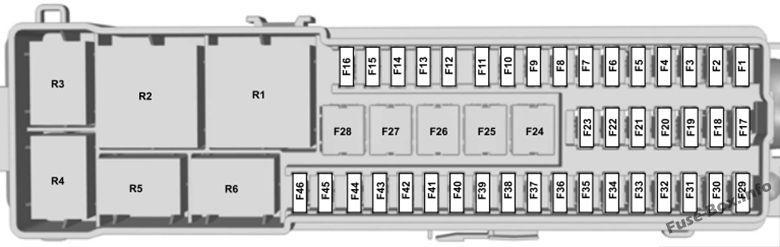 trunk fuse box diagram: ford escape (2013, 2014, 2015, 2016, 2017, 2018,  2019) | ford transit, fuse box, ford c max hybrid  pinterest