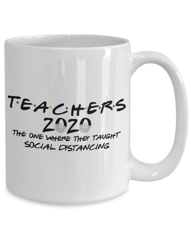 Teacher Gift 2020, Friends, Social Distancing Mug