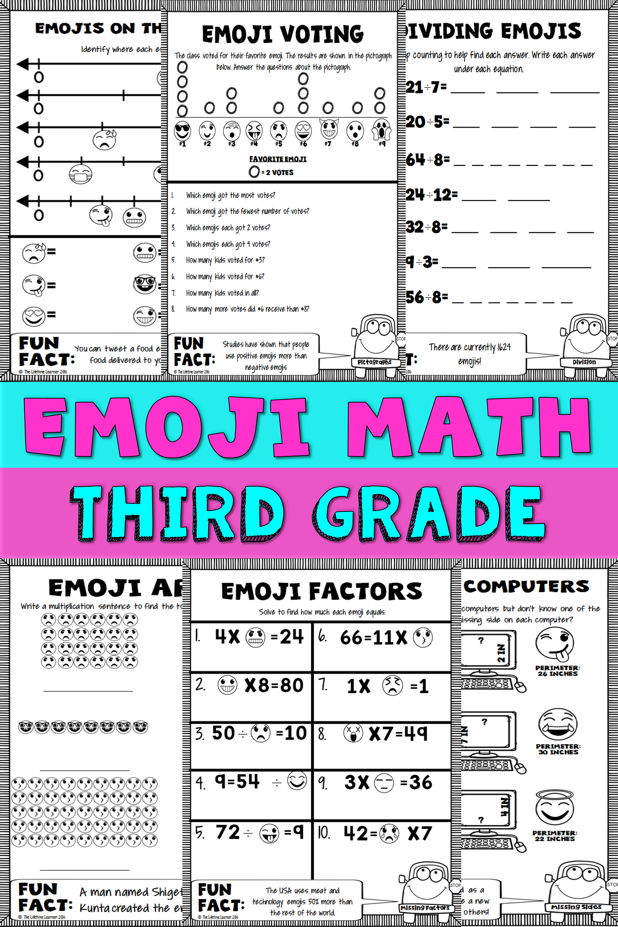 3rd Grade Emoji Math | Fifth to Sixth Grade | Pinterest | Homework ...
