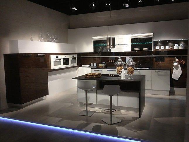 Häcker-Musterküche Häcker Küche AV 5090 Glasfront, Modern, Design - küchen modern design