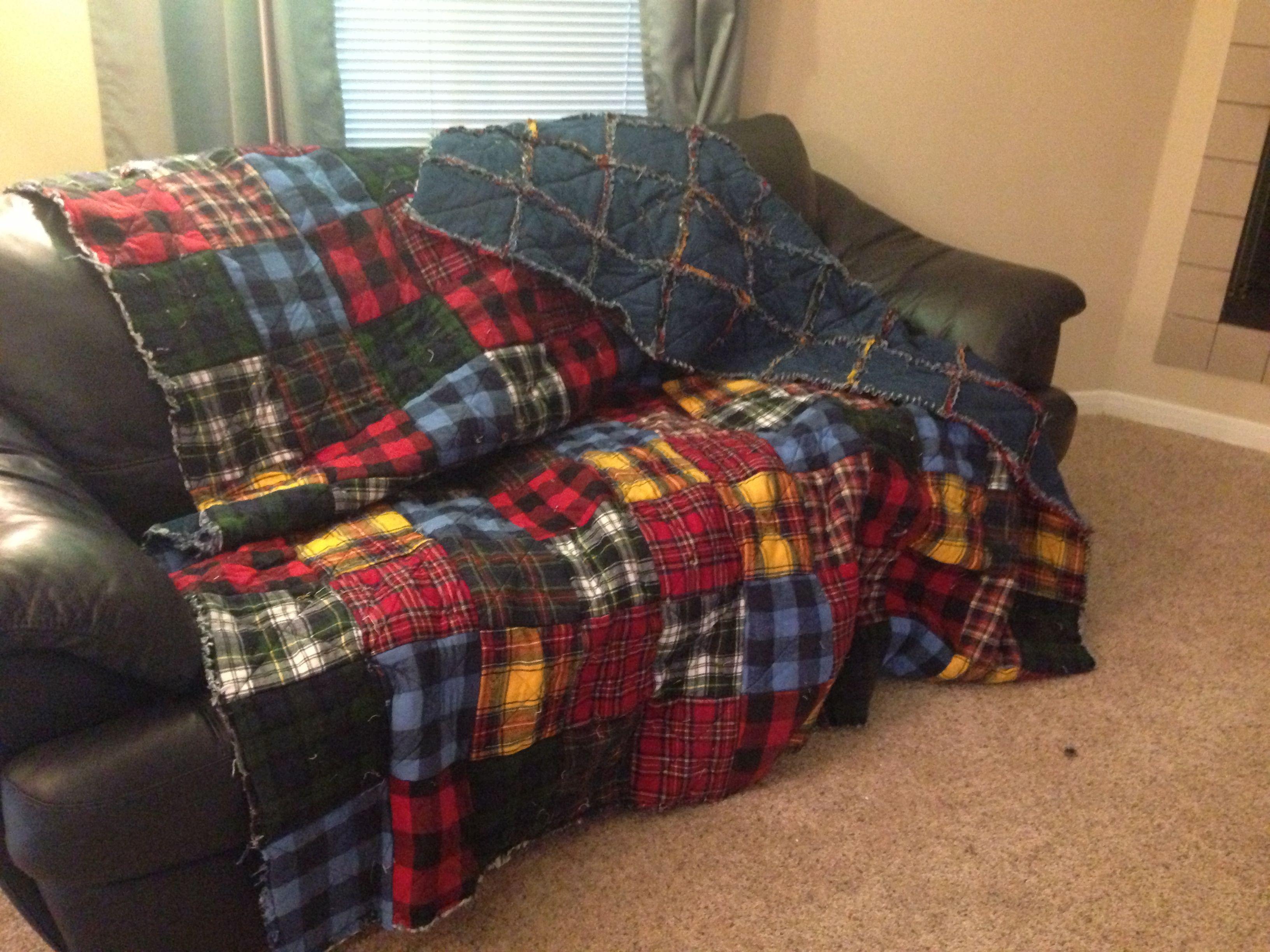 Flannel and denim rag quilt | Sewing | Pinterest | Rag quilt ... : rag quilts flannel - Adamdwight.com