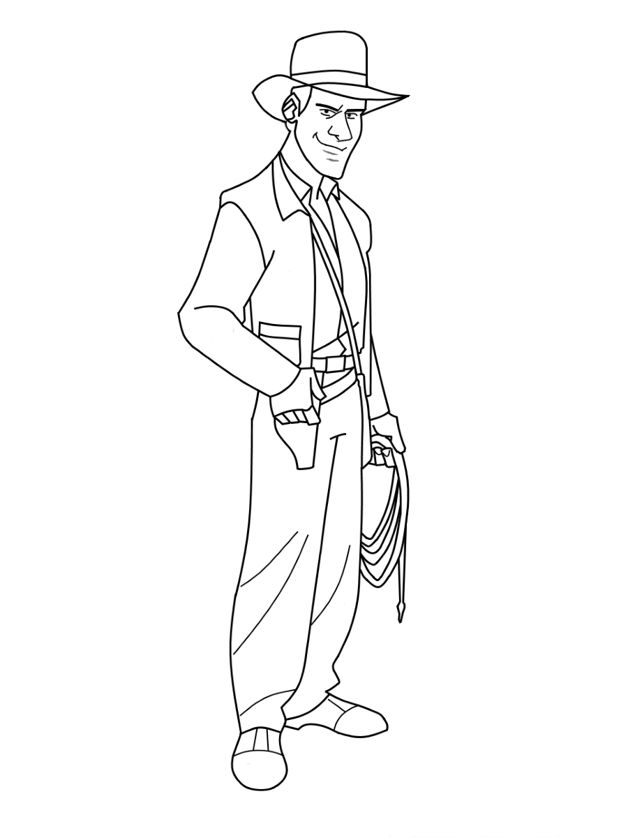Free Indiana Jones Coloring Pages Printable Shelter
