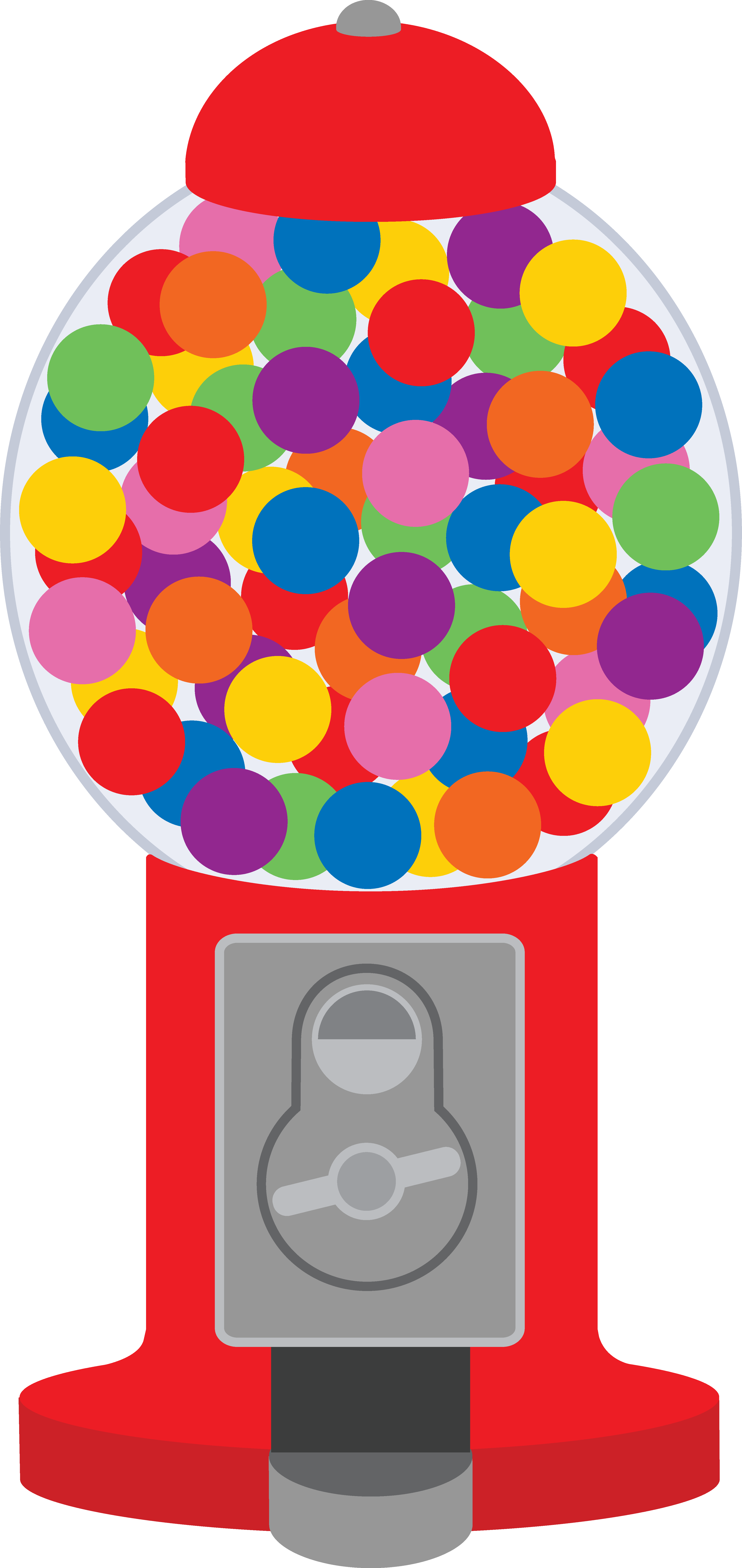 Free coloring page gumball machine - Cute Clip Art Of A Classic Red Gumball Machine
