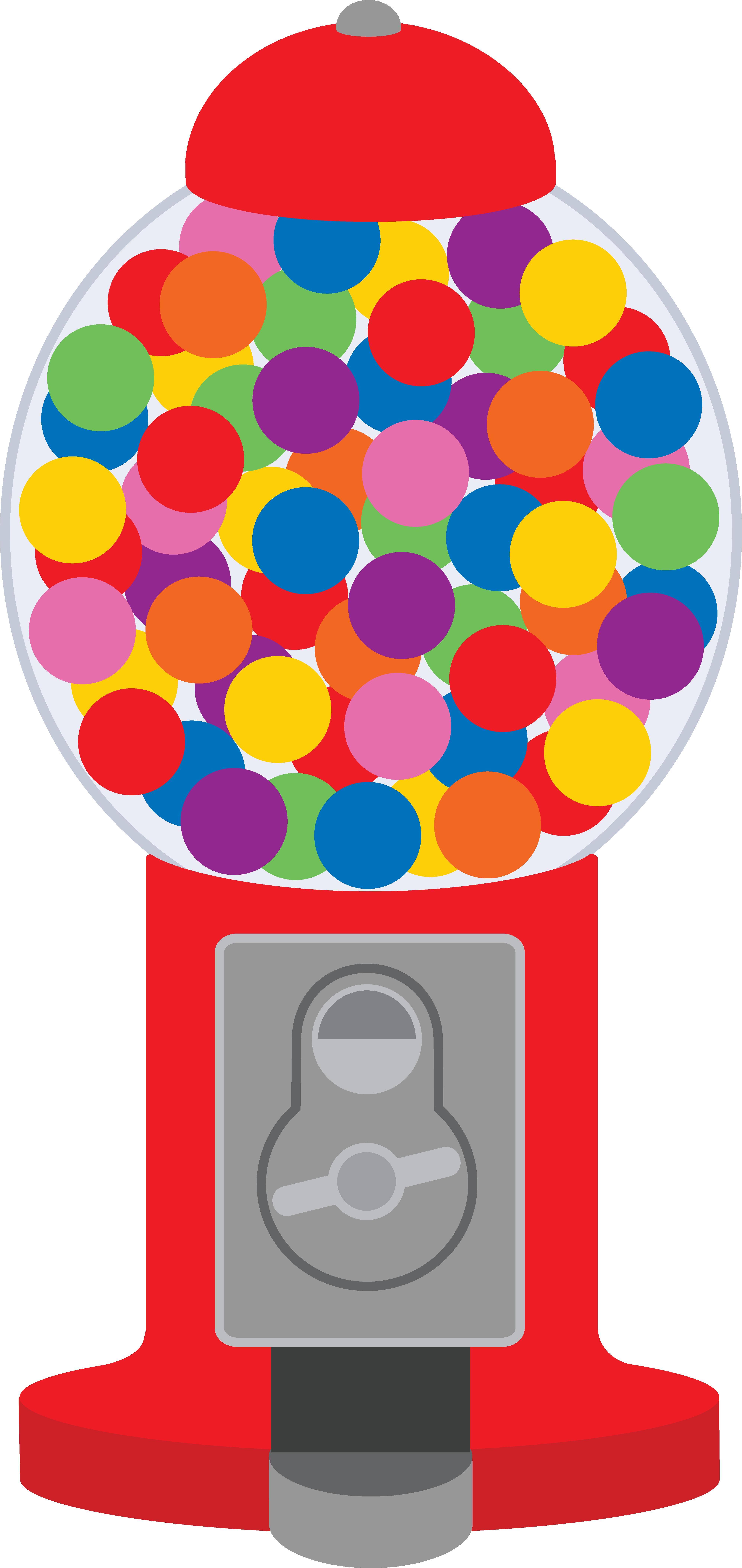 cute clip art of a classic red gumball machine [ 3993 x 8440 Pixel ]