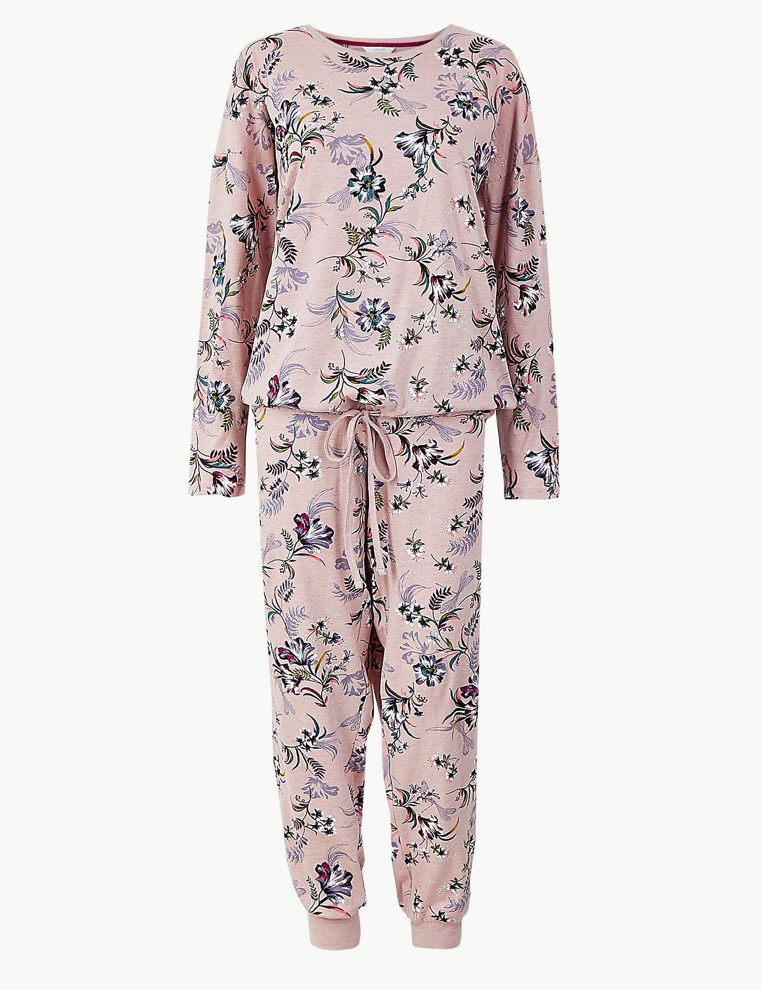 Women/'s Pyjama Red Pj/'s Ladies Nighwear Marks  Spencer Pajamas Loungewear 8-26