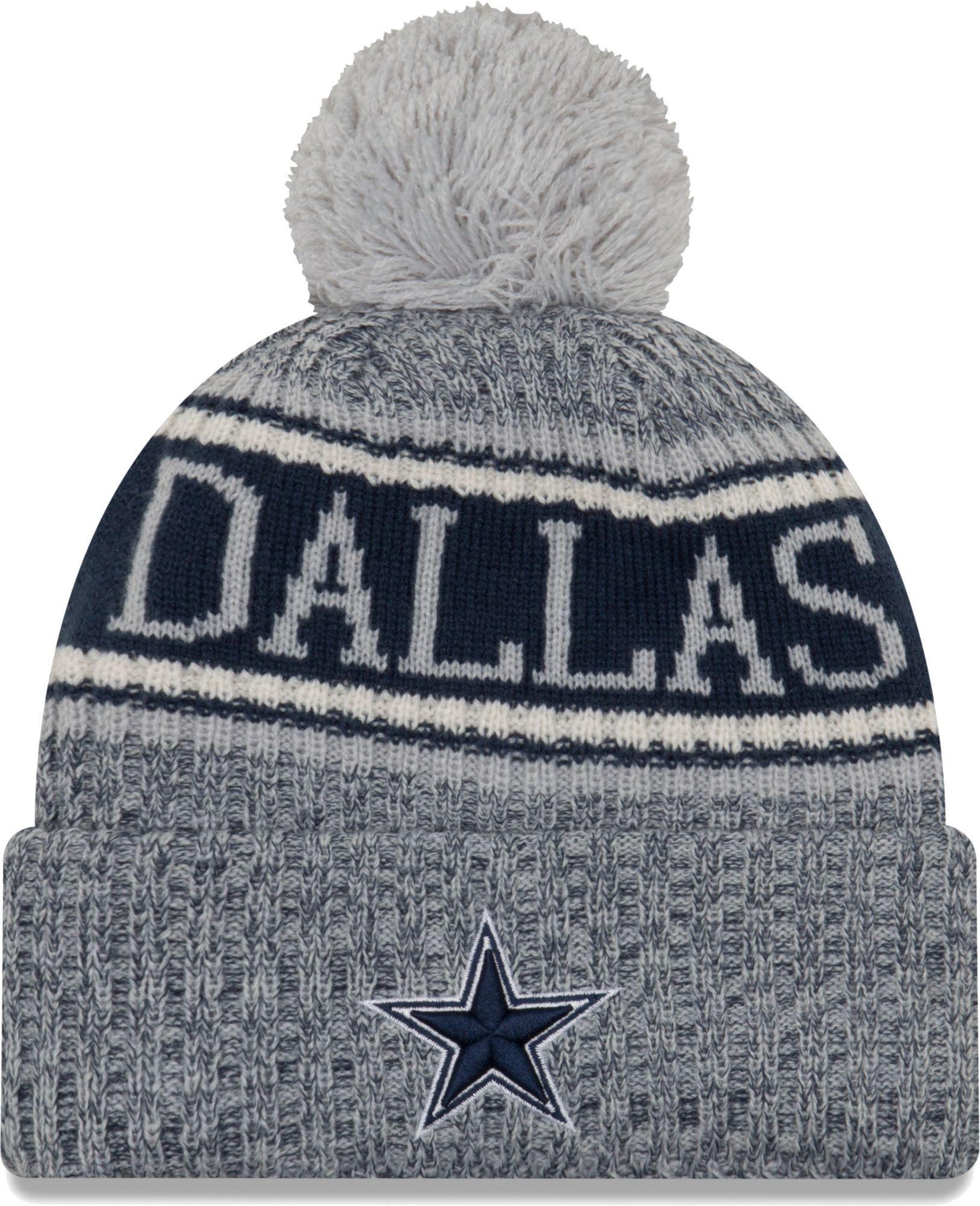 release date c6324 1f150 New Era Men s Dallas Sideline Cold Weather Reverse Navy Sport Knit, Blue