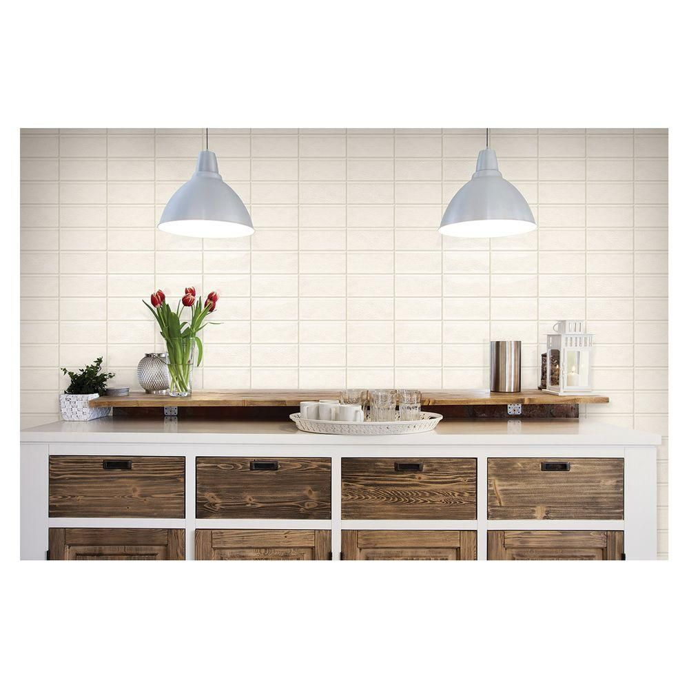 Daltile Structured Effects Crackled Pearl 3 in