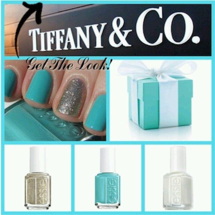 Tiffany themed nails