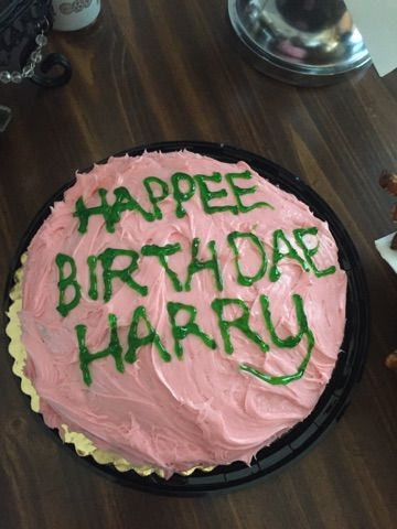 Harry Potter Cake For Movie Marathon