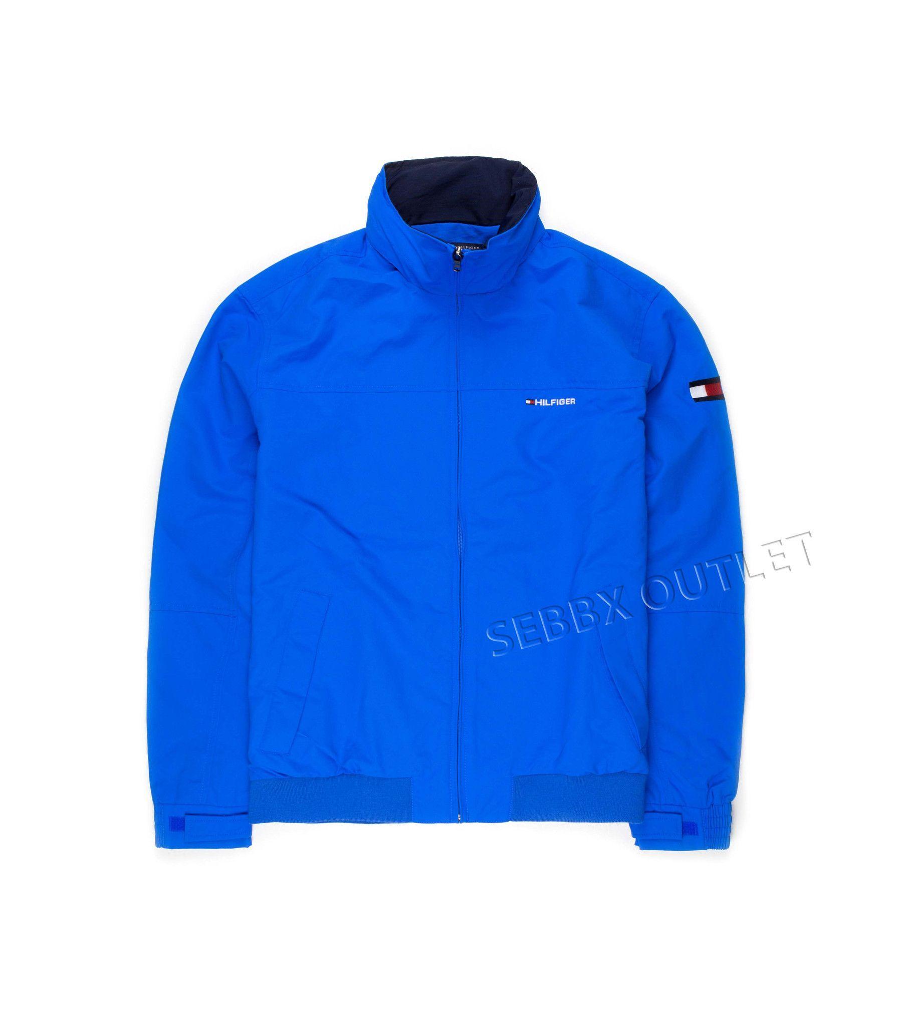Tommy Hilfiger Yacht Jacket Coat Blue Zip Down | Jacket ...