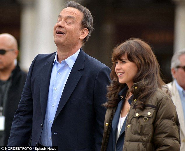 Tom Hanks on Da Vinci Code movie Inferno set with Felicity Jones ...