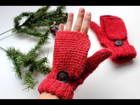 Mitones de ganchillo | Fingerless gloves | Mittens - YouTube | mundo ...