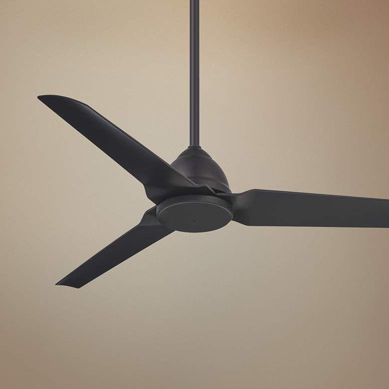 54 Minka Aire Java Coal Black Wet Ceiling Fan 67y56 Lamps Plus Black Ceiling Fan Ceiling Fan Modern Ceiling Fan Minka outdoor ceiling fan
