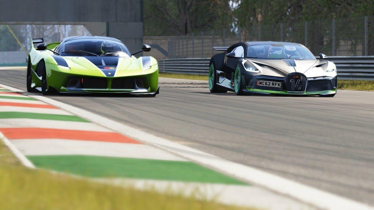 Bugatti Divo Vs Ferrari Fxx K At Monza Circuit Ferrari Fxx