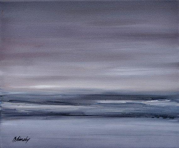Oil painting Purple dream Original unique by belanszkypainting