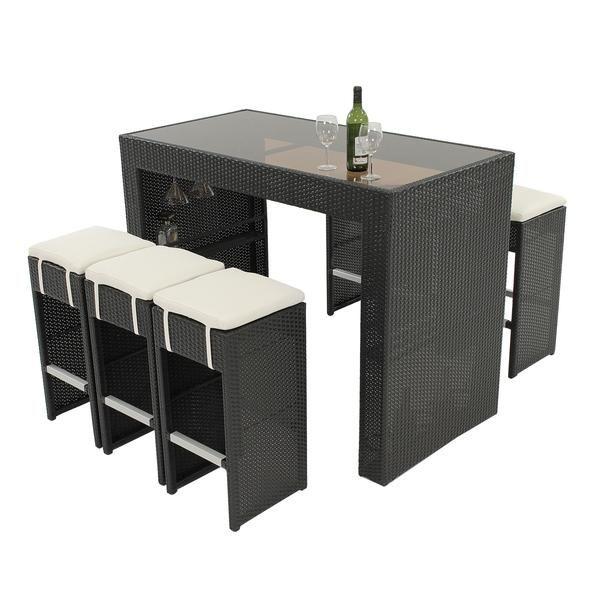 El Dorado Furniture : Karina Black 7 Piece Patio Set