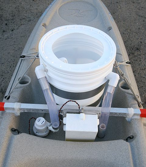 Build a live bait tank for your fishing kayak.