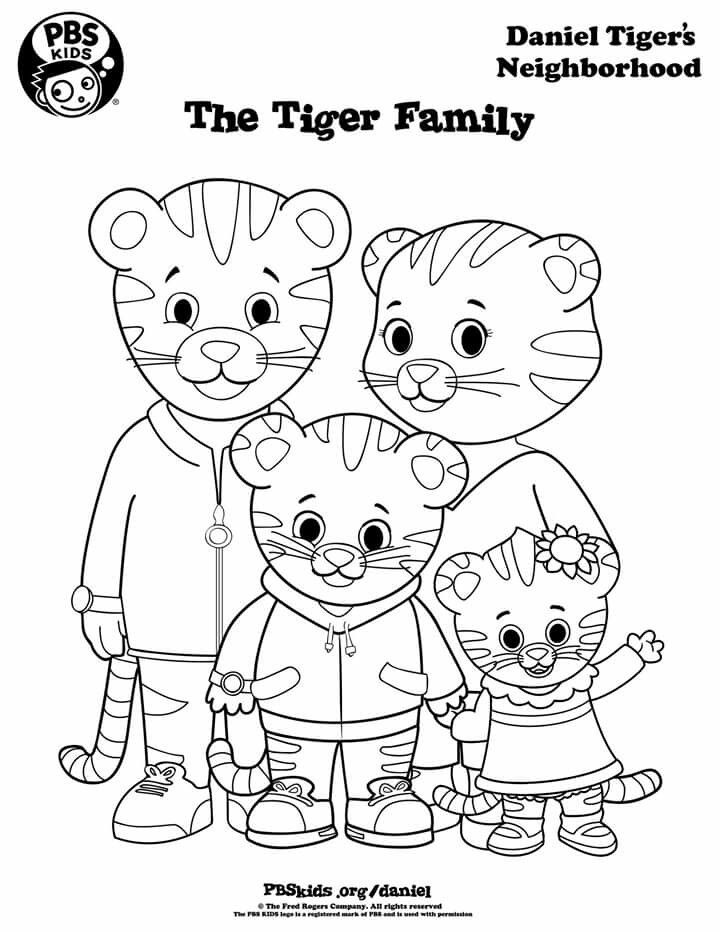 Pin By Gina Ross On Coloring Pages Daniel Tiger S Neighborhood Daniel Tiger Family Coloring Pages