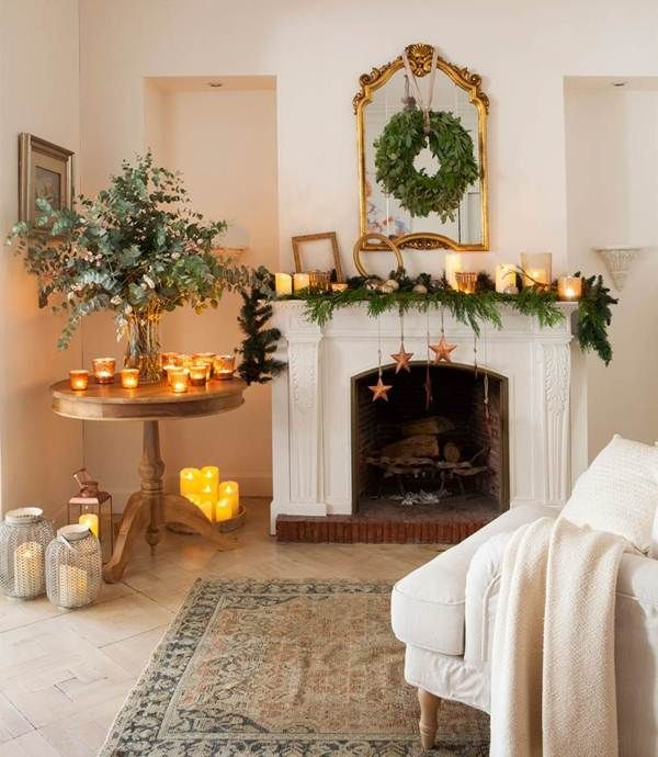 8 ideas para decorar chimeneas en navidad decoraci n de - Chimeneas para interiores ...
