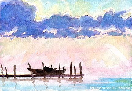 Easy Watercolor Landscape Paintings For Beginners Easy Landscape