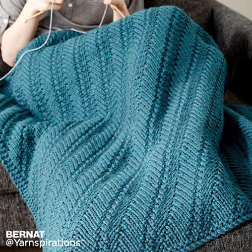 Ravelry: Bernat Reversible Knit Lap Blanket pattern by Bernat Design ...