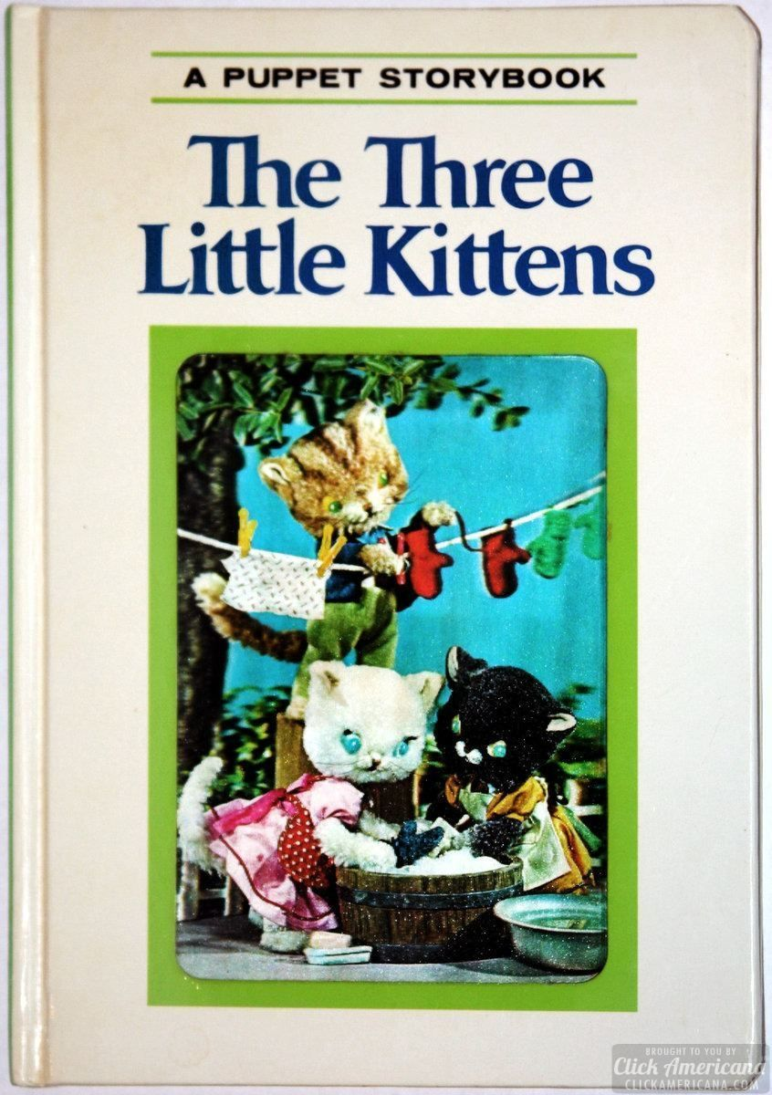 Vintage Preschool Favorites Puppet Storybooks With 3d Lenticular Covers Puppets Little Kittens Preschool
