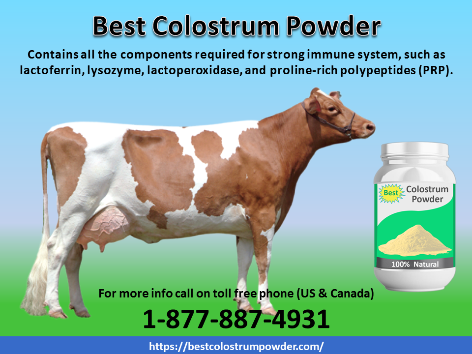 The Best Colostrum Powder contains all the components