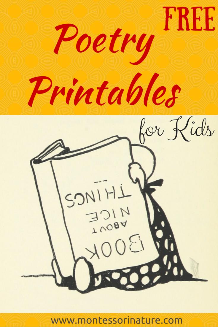 free poetry printable cards for kids via montessori nature free