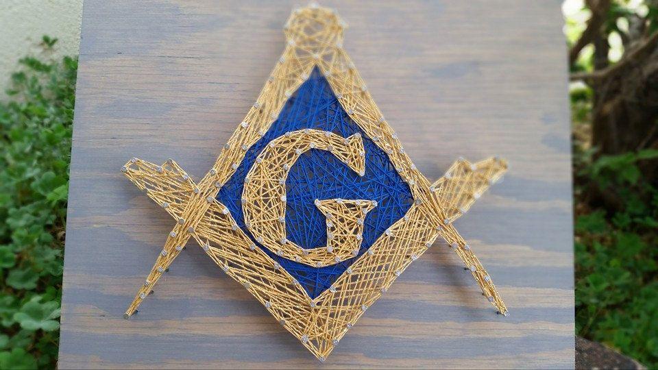 Masonic Wall Art String Art Masonic Gifts Freemason Home Decor Wood ...