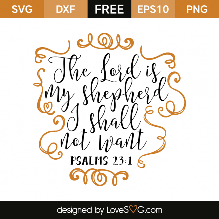 Psalms 23:1 | Free SVG Cut Files | LoveSVG | Free svg cut