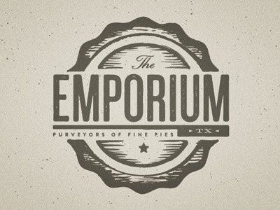 A beautiful vintage typography logo with a rustic feel ...