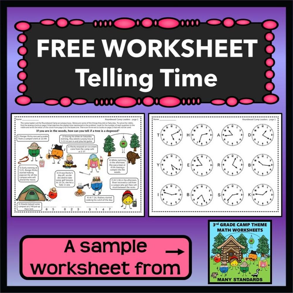 Freebie Telling Time Worksheet In 2021 Telling Time Worksheets Time Worksheets Word Problem Worksheets [ 1000 x 1000 Pixel ]