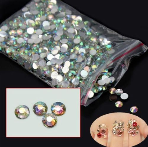 1000Pcs Top New Nail Art Flatback Decoration DIY Crystal AB 14 Resin Beads *** Click image for more details.