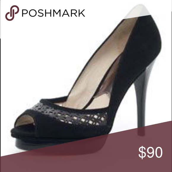 "c64becb922c5 Spotted while shopping on Poshmark  Michael Kors Zamora Open Toe 4.5"" Heels  Black!  poshmark  fashion  shopping  style  MICHAEL Michael Kors  Shoes"