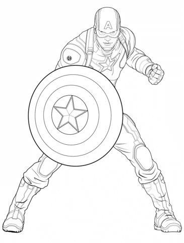 14 Beau De Dessin Captain America Image en 2020 ...