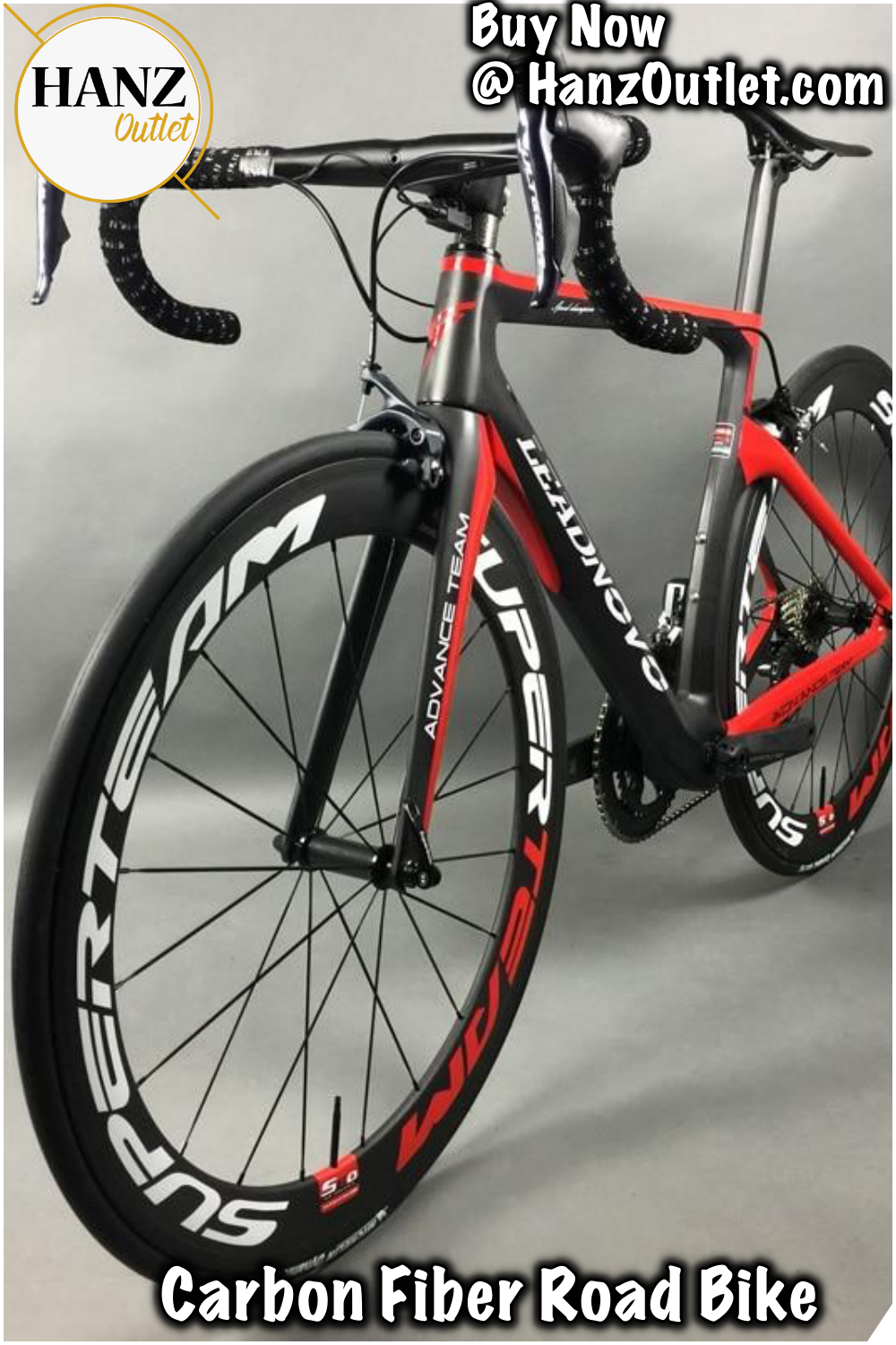 Complete Full Carbon Fiber Road Bike Racing Cycling Black Red