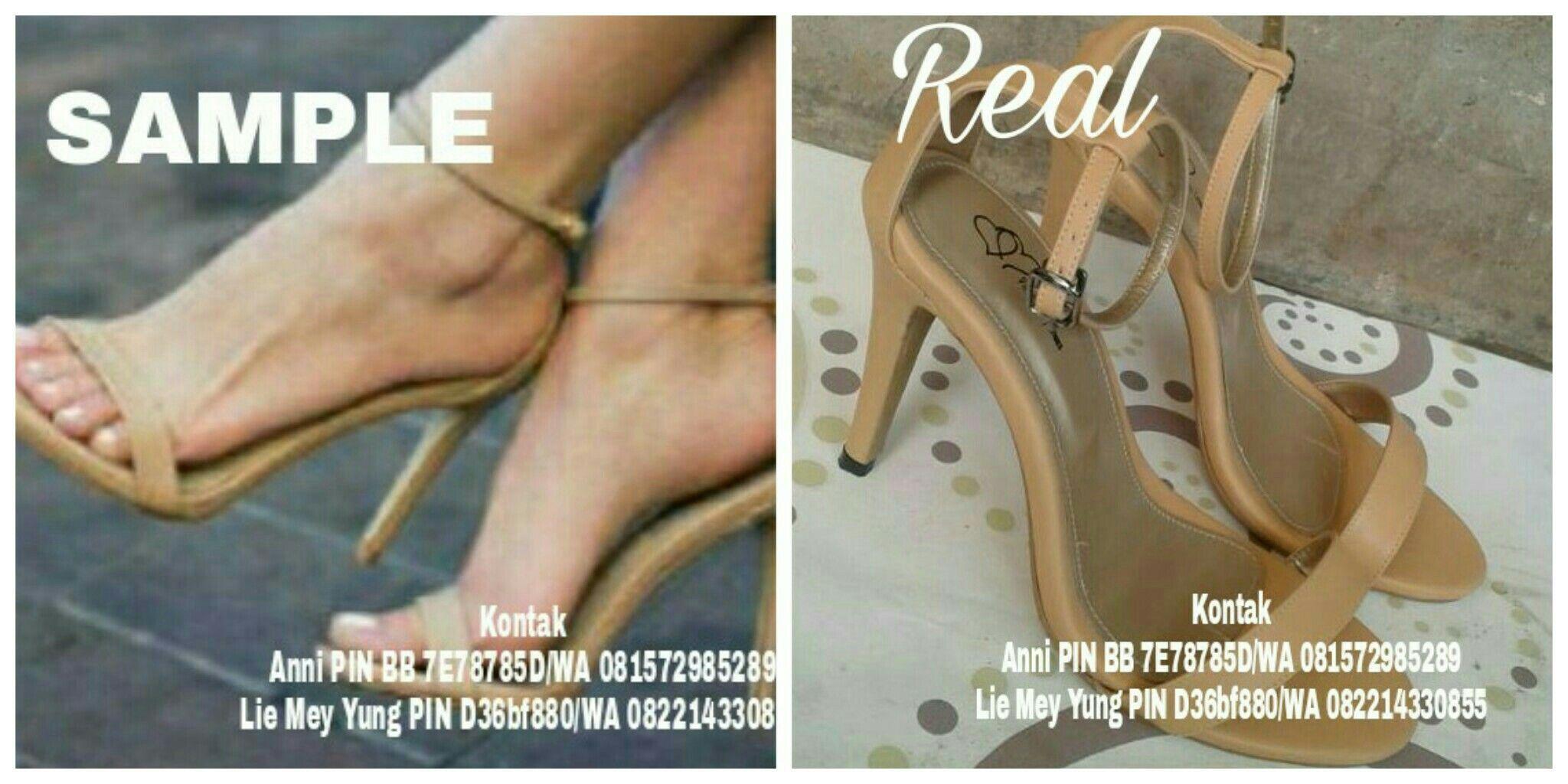 Makloon Sepatu Wanita Satuan Paris Lovely Shoes Kontak Anni Pin