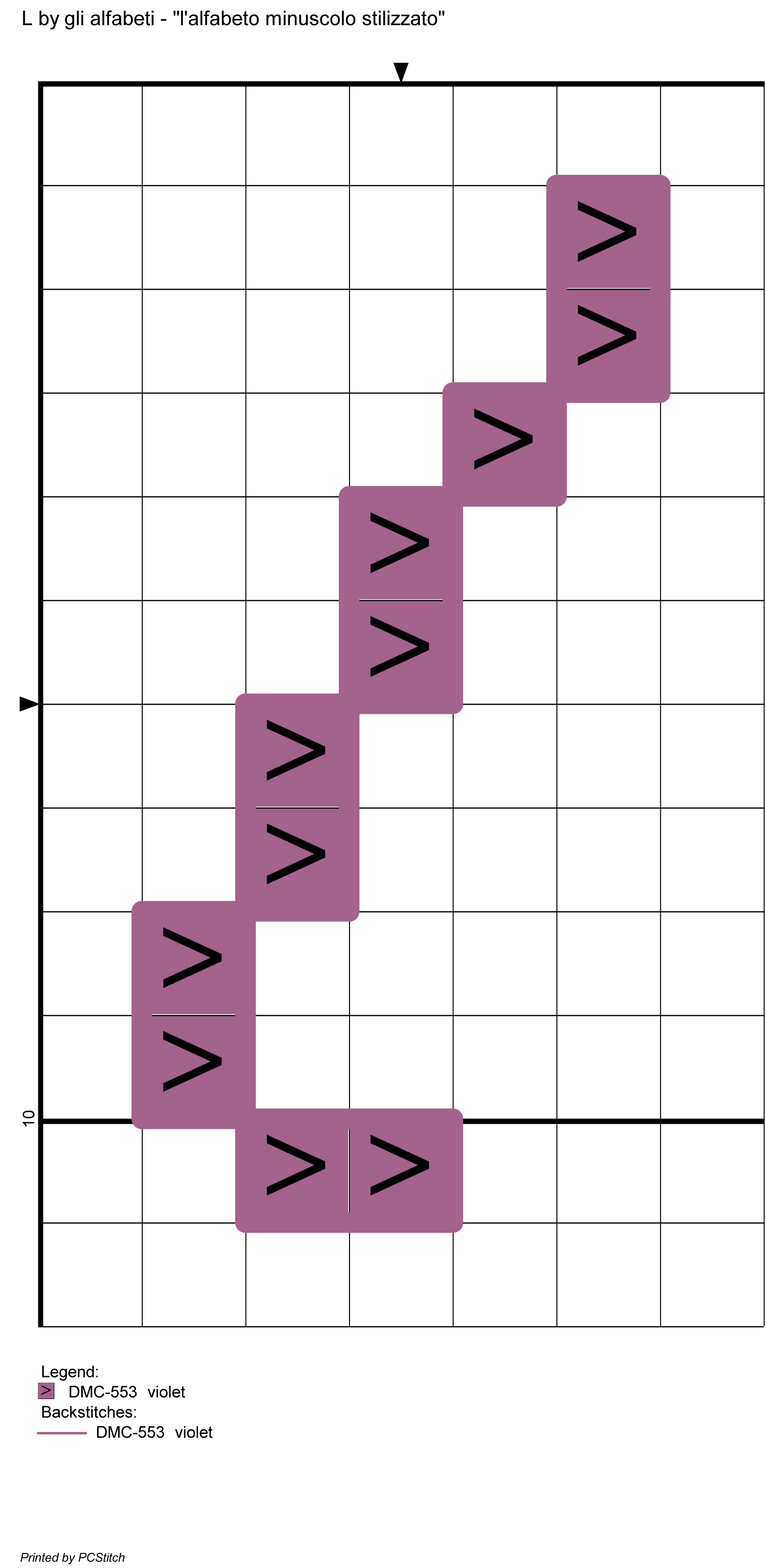 alfabeto minuscolo stilizzato: L