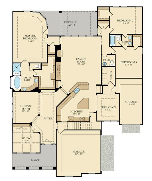 Pin By Andrea Molnar On Homes Village Builders Floor Plans House Floor Plans