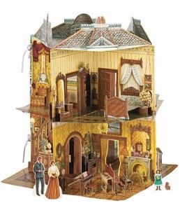 Victorian Dollhouse Book 3d The Detail Is Awesome Oh I Had One Of