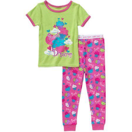 6c153ed31f Garanimals Baby Toddler Girl 2-Piece Cotton Tight Fit Pajamas