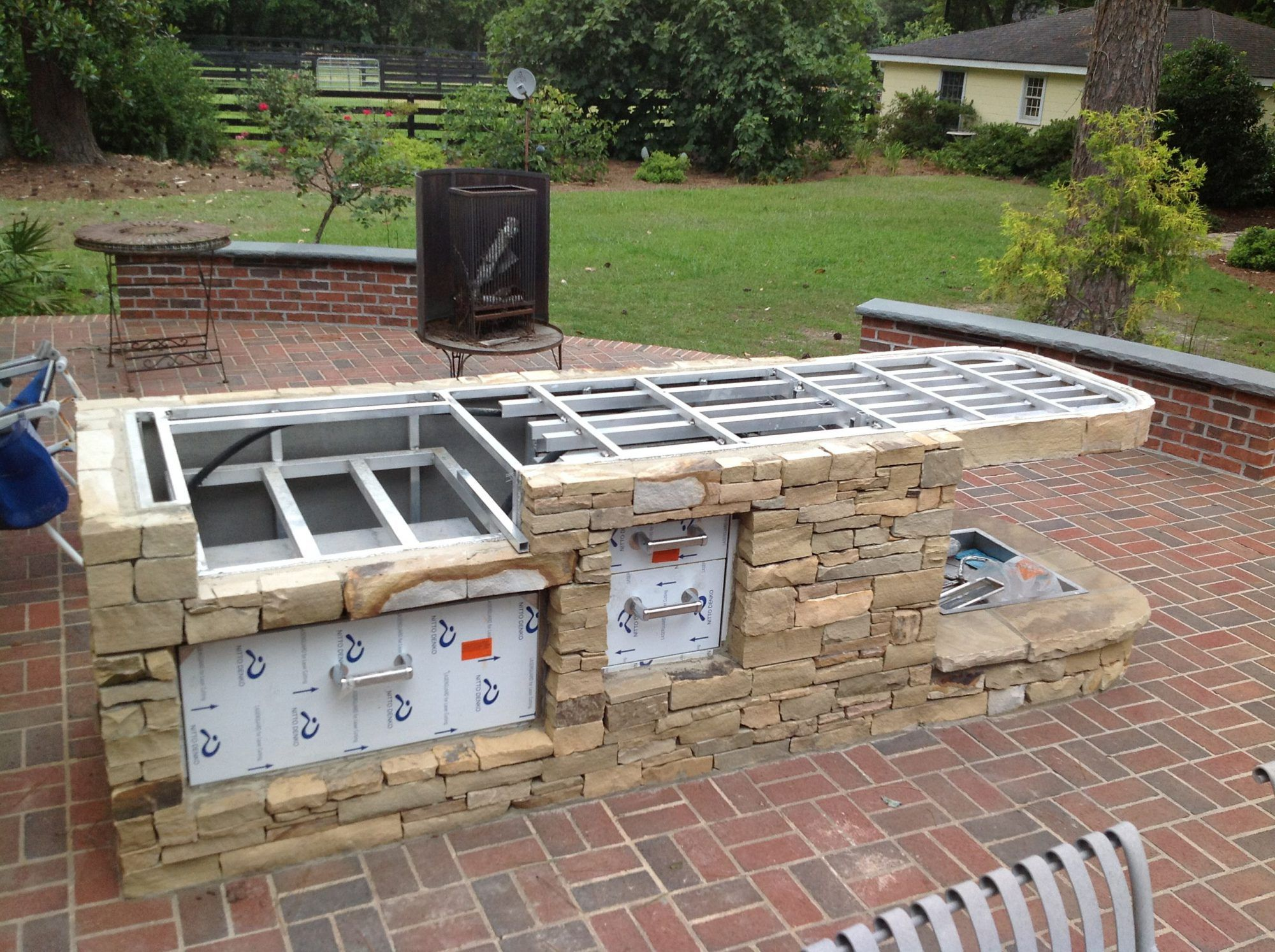 Pin On Projects To Try Diy backyard kitchen plans
